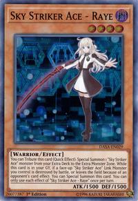 YuGiOh! TCG karta: Sky Striker Ace - Raye