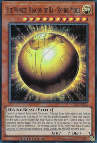 YuGiOh! TCG karta: The Winged Dragon of Ra - Sphere Mode
