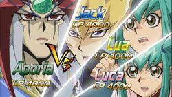 5Dx141 Aporia VS Jack & Lua and Luca