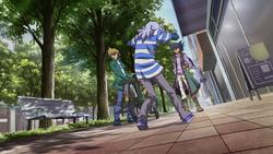 Aigami pressures Bakura