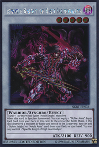 YuGiOh! TCG karta: Ignoble Knight of High Laundsallyn
