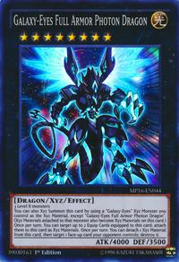 YuGiOh! TCG karta: Galaxy-Eyes Full Armor Photon Dragon