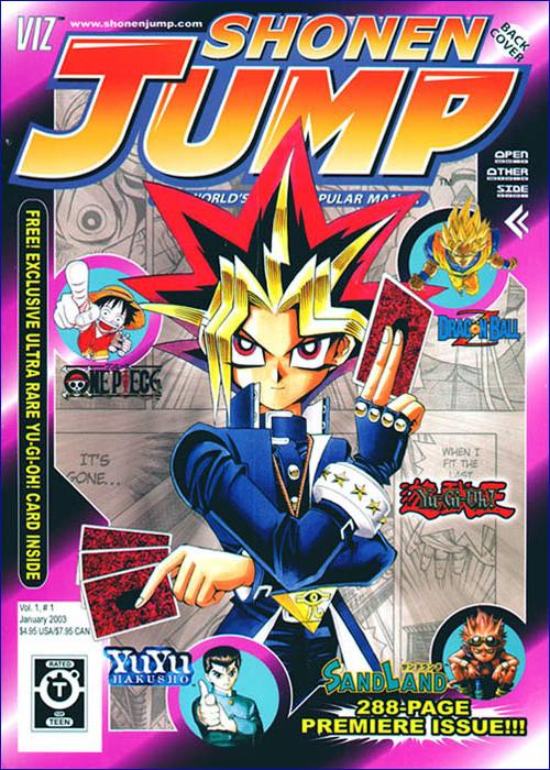 Yugi on the cover of Shonen Jump