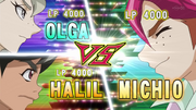 Olga and Halil VS Michio