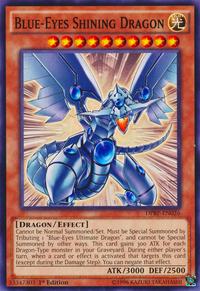 YuGiOh! TCG karta: Blue-Eyes Shining Dragon