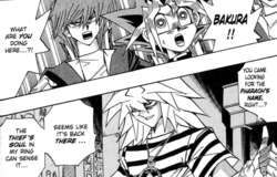 Dark Bakura at the tomb