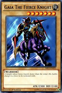 YuGiOh! TCG karta: Gaia The Fierce Knight