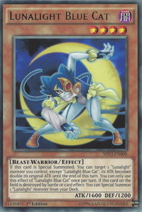 YuGiOh! TCG karta: Lunalight Blue Cat