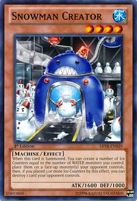 YuGiOh! TCG karta: Snowman Creator