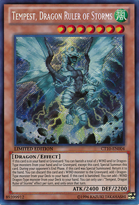 YuGiOh! TCG karta: Tempest, Dragon Ruler of Storms