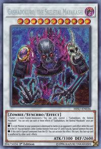 YuGiOh! TCG karta: Gashadokuro, the Skeletal Mayakashi