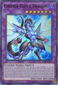 YuGiOh! TCG karta: Cyberse Clock Dragon