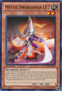YuGiOh! TCG karta: Mystic Swordsman LV2