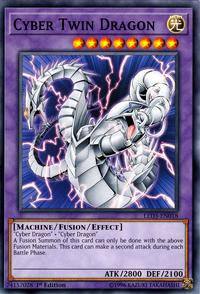 YuGiOh! TCG karta: Cyber Twin Dragon