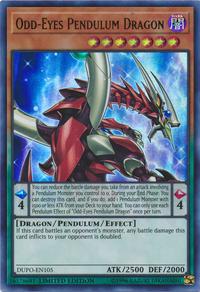YuGiOh! TCG karta: Odd-Eyes Pendulum Dragon