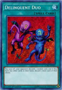 YuGiOh! TCG karta: Delinquent Duo