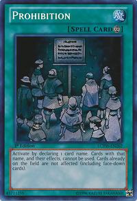 YuGiOh! TCG karta: Prohibition