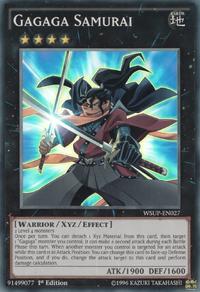 YuGiOh! TCG karta: Gagaga Samurai