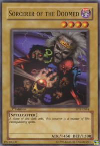 YuGiOh! TCG karta: Sorcerer of the Doomed