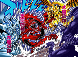 Obelisk, Slifer and Ra Summoned