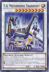 YuGiOh! TCG karta: F.A. Motorhome Transport