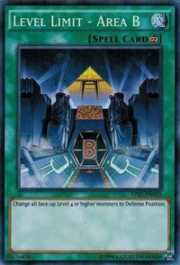YuGiOh! TCG karta: Level Limit - Area B