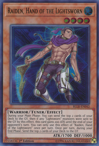 YuGiOh! TCG karta: Raiden, Hand of the Lightsworn