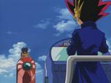 Yami Yugi and Mako Tsunami's Duel