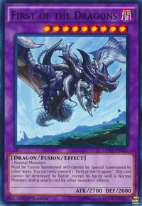 YuGiOh! TCG karta: First of the Dragons