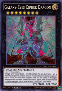 YuGiOh! TCG karta: Galaxy-Eyes Cipher Dragon