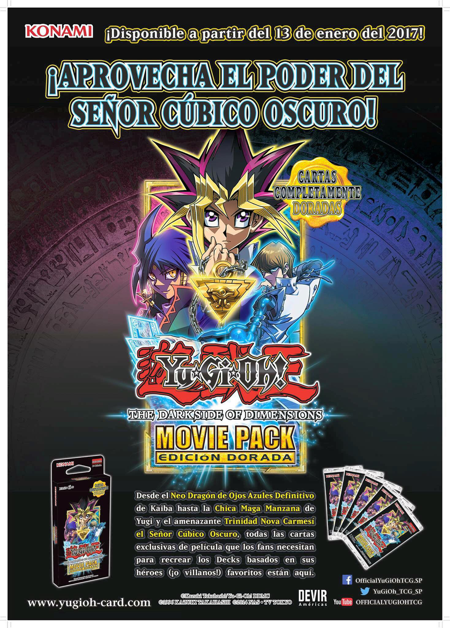 Yu Gi Oh The Dark Side Of Dimensions Movie Pack Gold Edition Yu