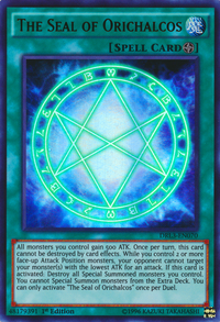 YuGiOh! TCG karta: The Seal of Orichalcos