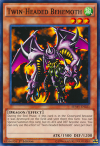 YuGiOh! TCG karta: Twin-Headed Behemoth