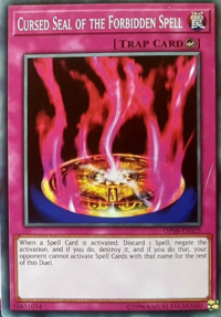 YuGiOh! TCG karta: Cursed Seal of the Forbidden Spell