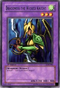 YuGiOh! TCG karta: Dragoness the Wicked Knight