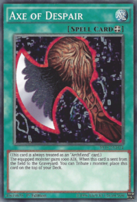 YuGiOh! TCG karta: Axe of Despair