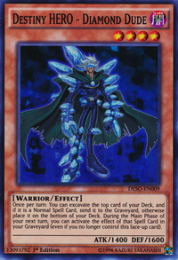 YuGiOh! TCG karta: Destiny HERO - Diamond Dude