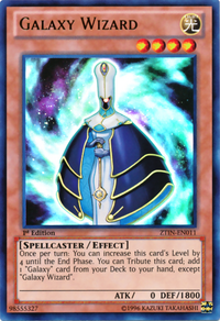 YuGiOh! TCG karta: Galaxy Wizard