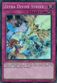 YuGiOh! TCG karta: Zefra Divine Strike