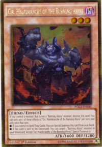 YuGiOh! TCG karta: Cir, Malebranche of the Burning Abyss