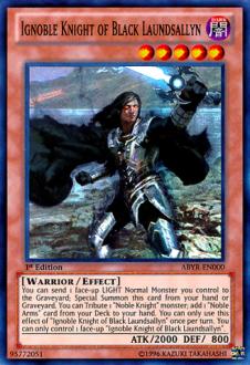Ignoble Knight of Black Laundsallyn ABYR