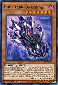 YuGiOh! TCG karta: F.A. Dark Dragster