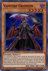 YuGiOh! TCG karta: Vampire Grimson
