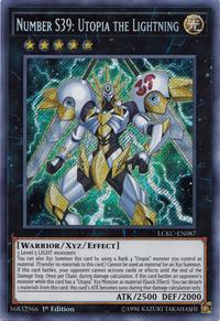 YuGiOh! TCG karta: Number S39: Utopia the Lightning