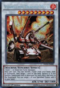 YuGiOh! TCG karta: Vermillion Dragon Mech
