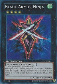 YuGiOh! TCG karta: Blade Armor Ninja