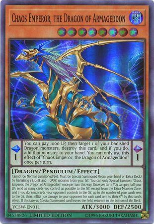 The Armageddon Dragon VP18-JP004 ultra rare Japanese Yu-Gi-Oh Chaos Emperor
