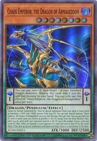 Chaos Emperor, the Dragon of Armageddon | Yu-Gi-Oh! | FANDOM
