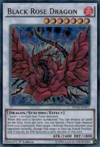 YuGiOh! TCG karta: Black Rose Dragon