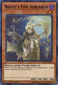 YuGiOh! TCG karta: Nights End Sorcerer